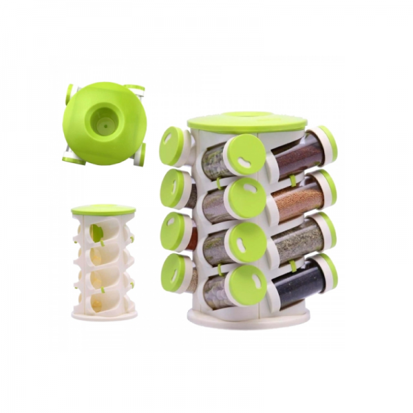 Spice Rack 16 in 1 with Cutlery Holder