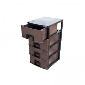 Plastic Daxer 4 Drawers Dark