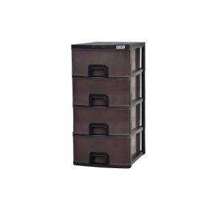 Plastic Daxer 4 Drawers DDC004 Dark