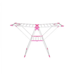 Foldable-Wing-Cloth-Drying-Rack-Pink