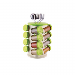 Spice-Rack-with-Cutlery-holder—Green
