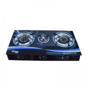 3 burner glass top